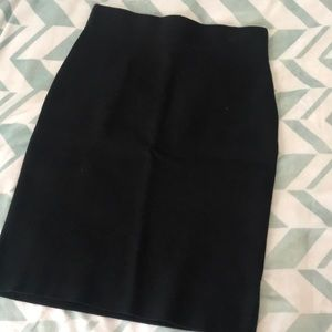 Thick material pencil skirt